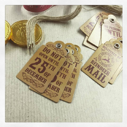 Set Of 15 Vintage Christmas Gift Tags